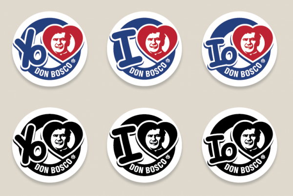 I Love Don Bosco buttons icons logos