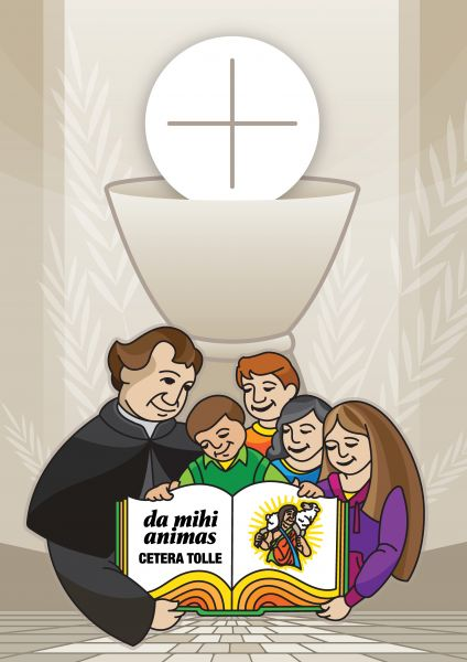 Don Bosco sharing the Gospel with the Young - Saint John Bosco - Don Bosco - San Giovanni Bosco - San Juan Bosco
